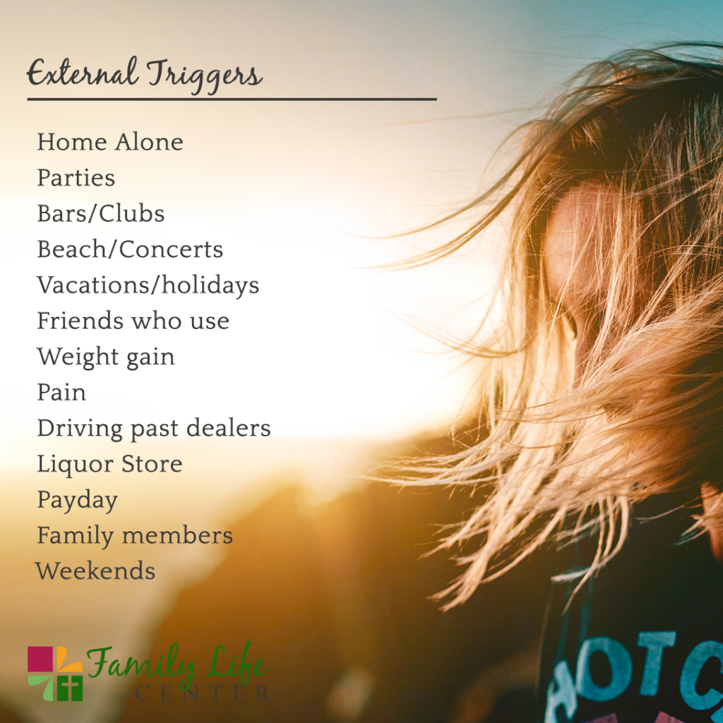 External Triggers that can lead to a relapse
