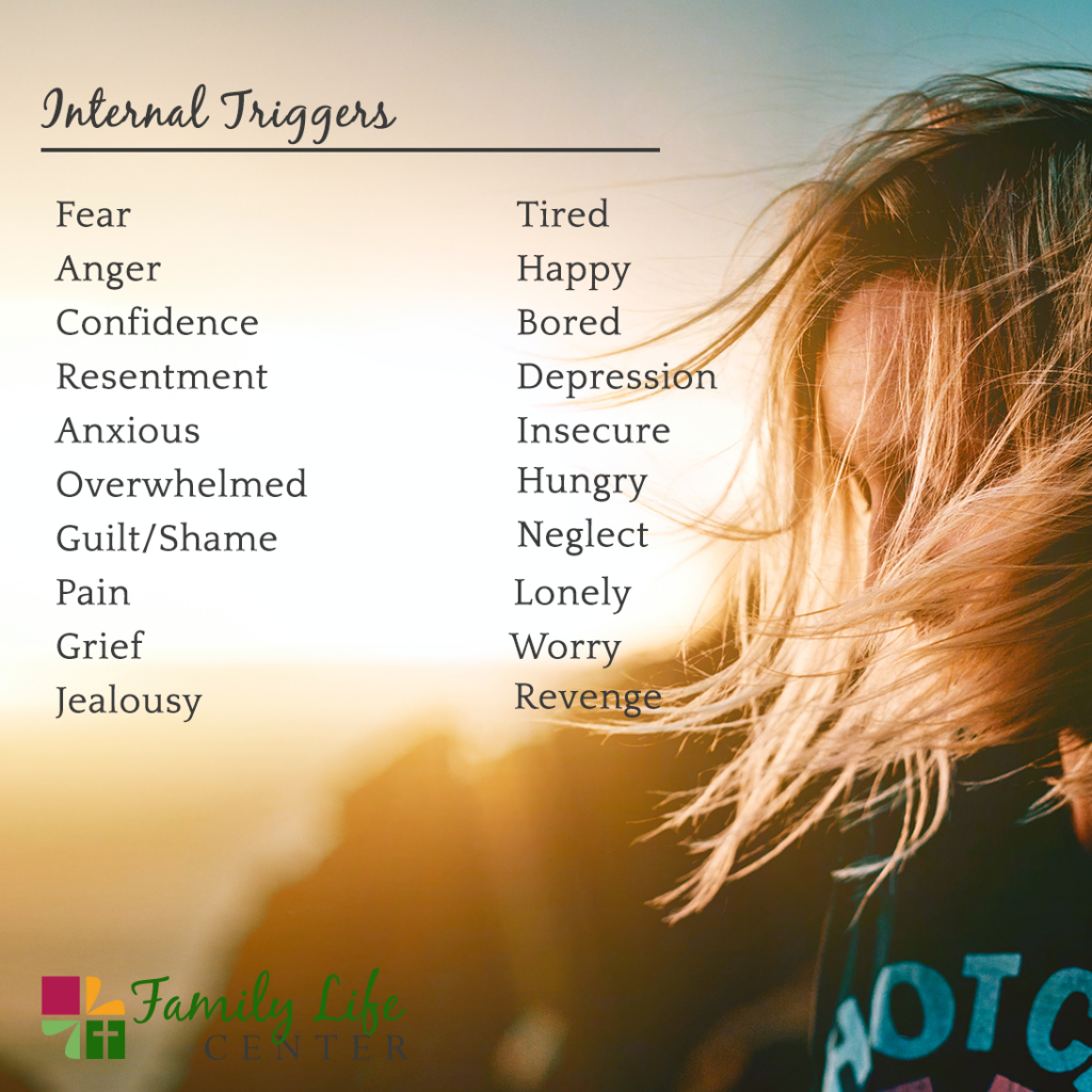 Internal triggers that can lead to a relapse